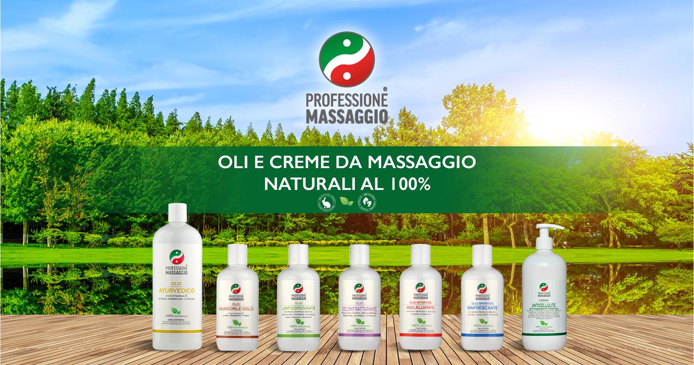 Prodotti per Massaggiatori a marchio Professione Massaggio